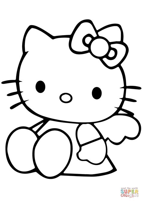 Kitty Coloring Pages Free download on ClipArtMag