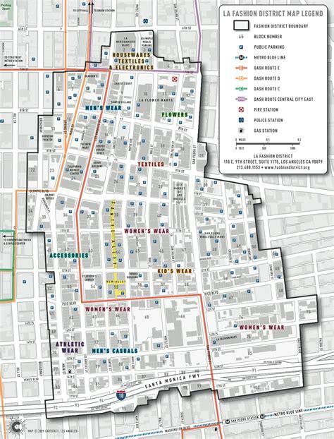 Los Angeles Fashion District Map