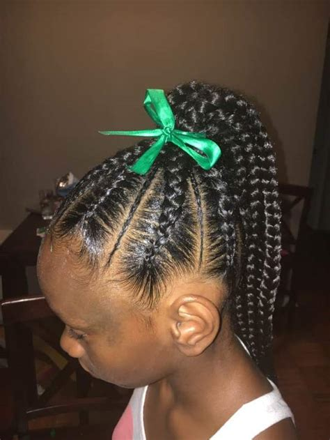 kids braids in a ponytail hair color ideas and styles