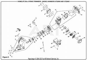 Homelite Ut22600 26cc String Trimmer Parts Diagram For Figure C