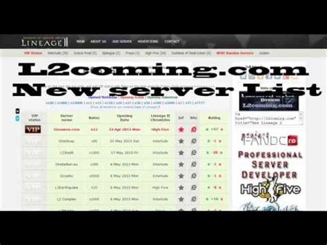 best l2 servers lineage 2 server list l2 top lineage 2 top