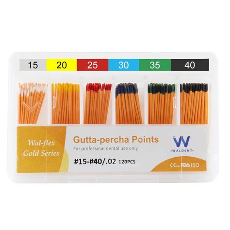 Waldent Gutta Percha Points 2% # 15-40 - ToothandGums.com