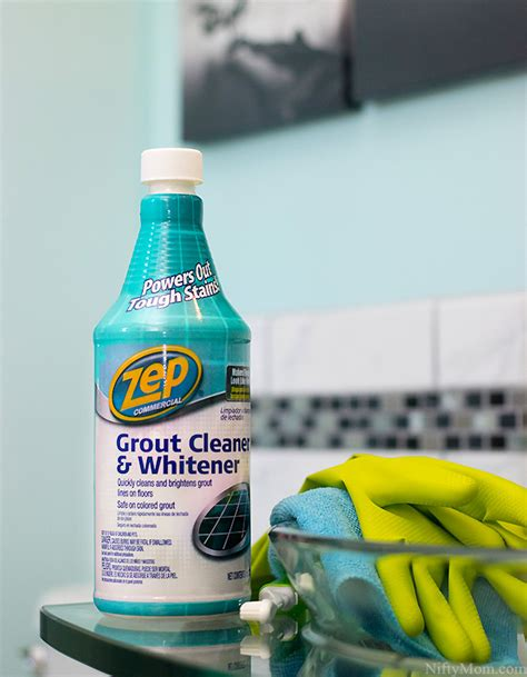 zep tile cleaner and whitener cleaning grout keeping a new bathroom looking new