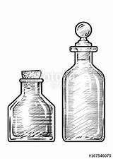 Bottle Potion Drawing Medicine Ink Illustration Line Engraving Vector Bottles Drawings Sketches Engr Tattoo Clipartmag Clip Stamp Clipart Guardado Desde sketch template