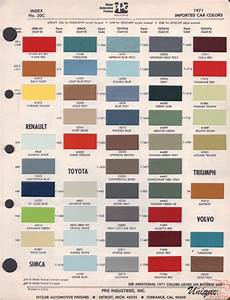 Opel Paint Chart Color Reference
