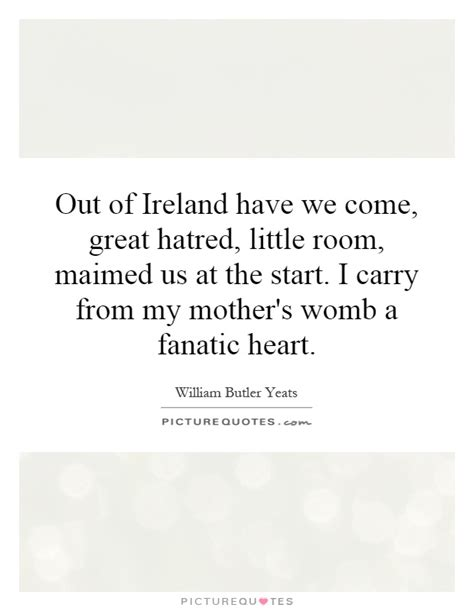 Out Of Ireland Have We Come, Great Hatred, Little Room