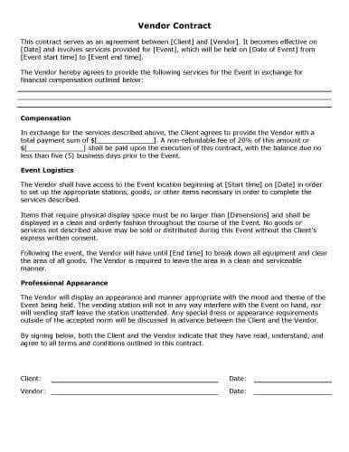 Staging Contract Template Free Independent 32 Sle Contract Templates In Microsoft Word