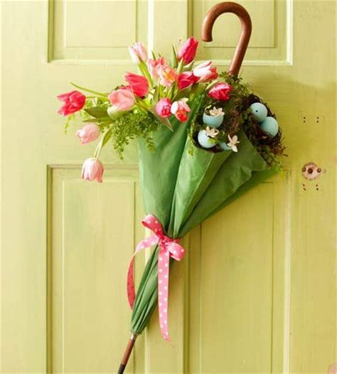 diy door wreaths diy umbrella and flowers door wreaths for spring diy and