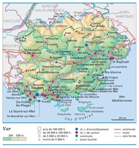 Carte Du Var Avec Toutes Les Villes by Carte Plan Et Itin 233 Raire D 233 Partement Var 83
