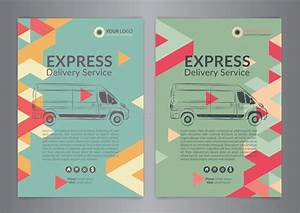 Set A4 Express Delivery Service Brochure Flyer Design ...