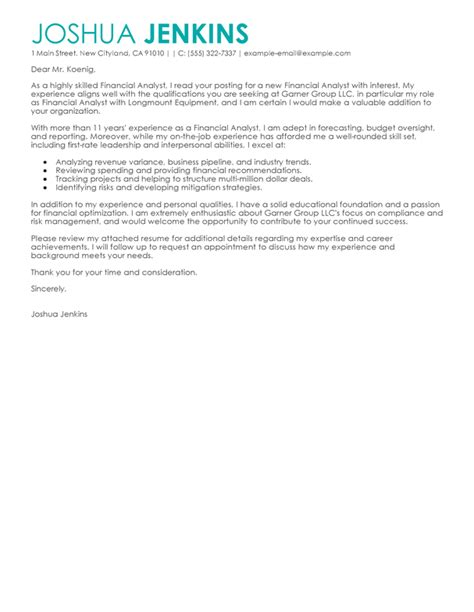 business cover letter examples livecareer