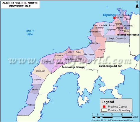 zamboanga del norte map map  zamboanga del norte