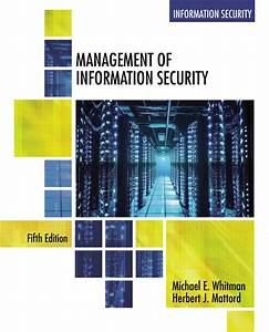 Management Of Information Security - 9781337405713