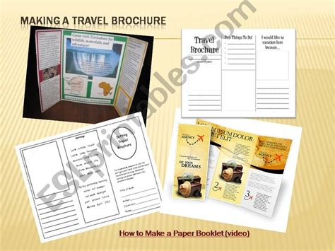 How To Make Powerpoint Brochure Esl Powerpoints How To Make A Travel Brochure