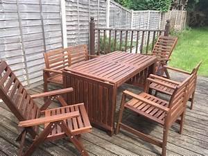Ikea Gartenmöbel äpplarö : ikea pplar outdoors furniture drop leaf table 1 bench 2 normal chairs 2 reclining chairs ~ Watch28wear.com Haus und Dekorationen