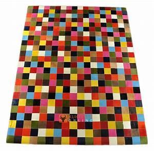 Teppich Bunt Gestreift : kuhfell teppich bunt 240 x 150 cm kuhfelle online nomad ~ Whattoseeinmadrid.com Haus und Dekorationen