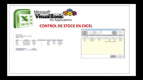 control de stock en excel youtube