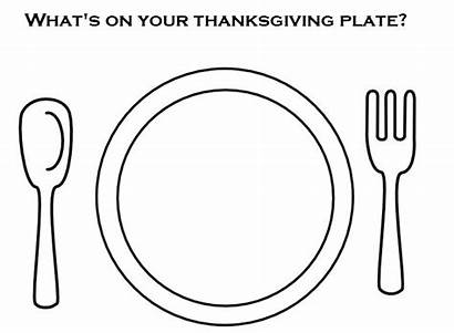 Plate Drawing Clipart Colouring Coloring Pages Template