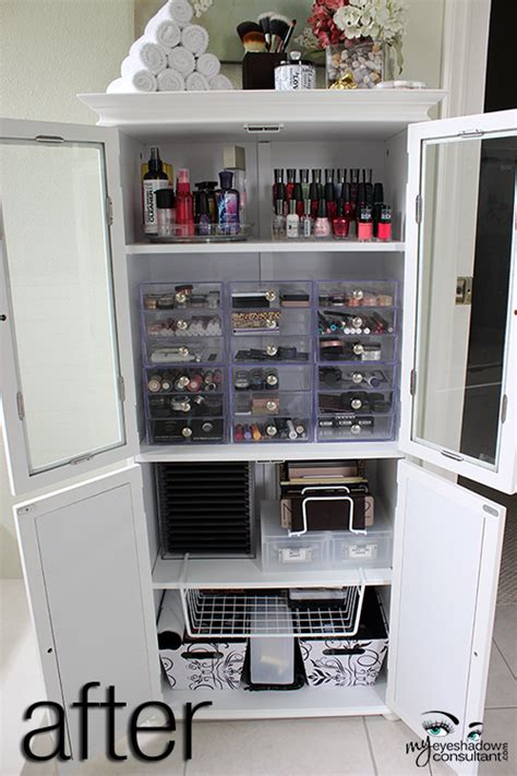 bathroom makeup storage ideas makeup re organizing storage solutions for your collection my eyeshadow consultant