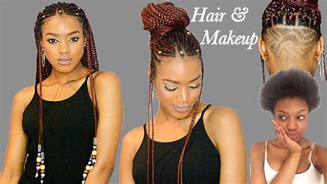 Fulani Braids & Beads + Undercut Transformation