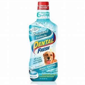 Dental freshr original formula water additive for dogs 8 for Dog dental water additive