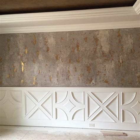Gestrichene Wand Verputzen by Modern Masters Venetian Plaster On Walls With Gold Foil