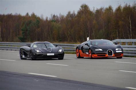 Koenigsegg Agera R Vs Bugatti Veyron Vitesse Race