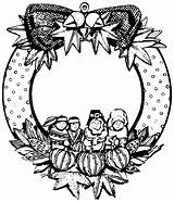 Coloring Pages Printable Wreath Wreaths Thanksgiving Print Holiday Flower Colouring Holidays Filminspector Visiting Thanks Leaf Hard sketch template