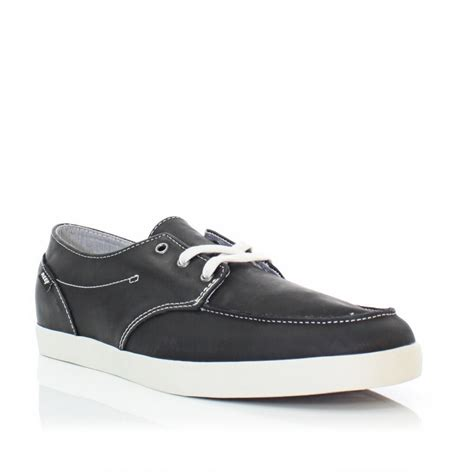 Reef Deckhand 2 Black by Mens Reef Black Deck 2 Leather Casual Deck Boat Shoes