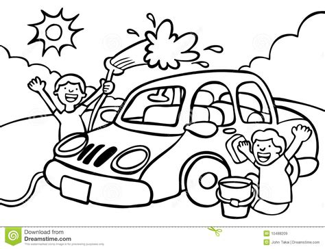 Car Wash Stock Vector. Illustration Of Graphic, Kids