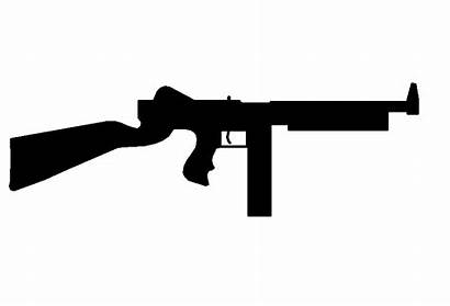 Gun Machine Thompson Shooting Clipart Sub Submachine
