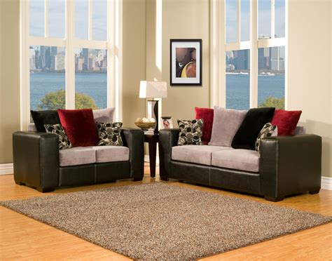 red and grey sofa 2 piece black grey and red modern sofa set