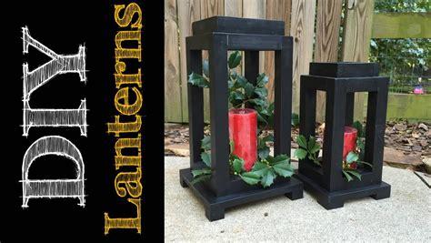 diy rustic wooden lanterns cmrw youtube