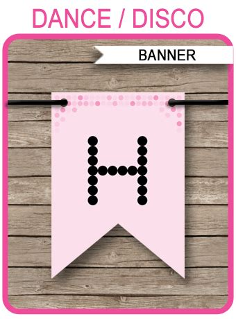 dance party banner template disco birthday banner