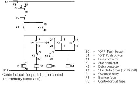 Typical Circuit Diagram Star Delta Starter Plc