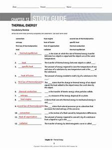 Section 3 Using Thermal Energy Worksheet