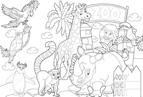 zoo coloring sheet   zoo coloring page zoo