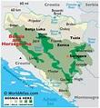 Bosnia and Herzegovina Large Color Map