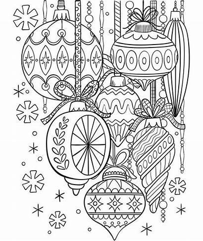 Coloring Crayola Pages Ornaments Adult Winter Glass