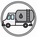 Oil Delivery Services Icons