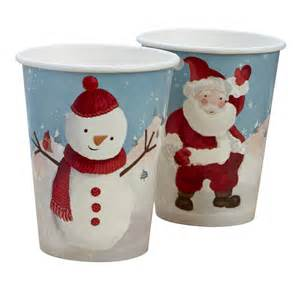 christmas snowman and santa paper cups by ginger ray notonthehighstreet com