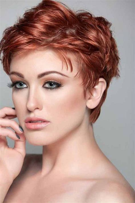 Short hairstyles for thick hair and round faces