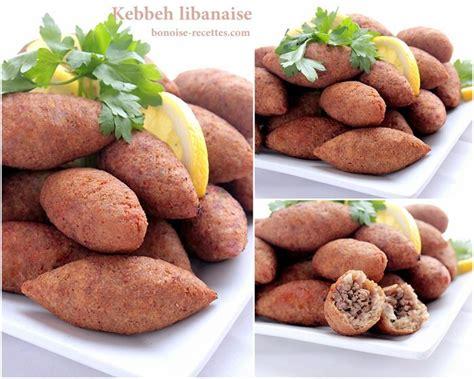 bonoise cuisine kebbeh ou kebbe entree libanaise bonoise recettes de