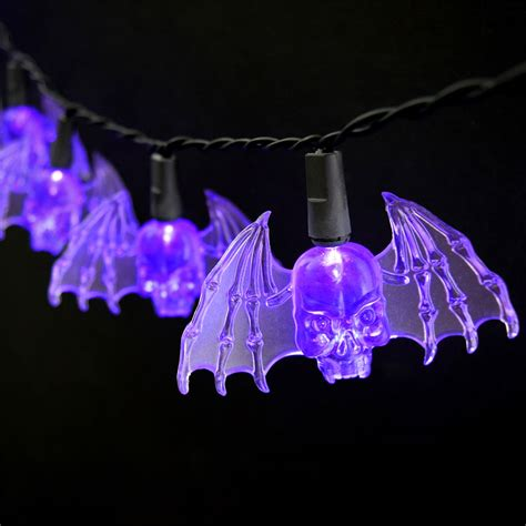 battery operated party lights purple bat led string lights battery operated