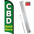 CBD Sold Here Windless-Style Feather Flag Bundle ...