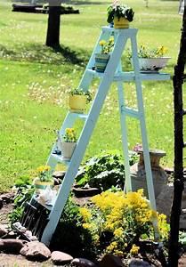 Gartendeko Selber Bauen : blumenst nder selber bauen alte holzleiter als blumenleiter benutzen ~ Yasmunasinghe.com Haus und Dekorationen