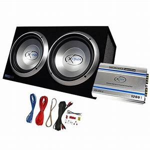 Acoustic Audio Xs122a 1200w Dual 12 U0026quot  Car Subwoofer Box