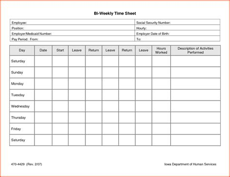 Time Sheet Template Daily Timesheet Template Free Printable Hunecompany