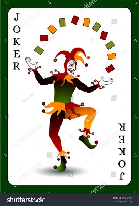 joker card vector background stock vector