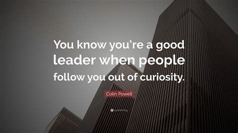 colin powell quote   youre  good leader